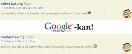 google translate-kan!