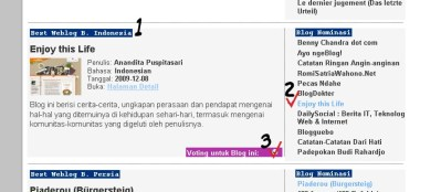 Nominasi The BOBs Award 2010