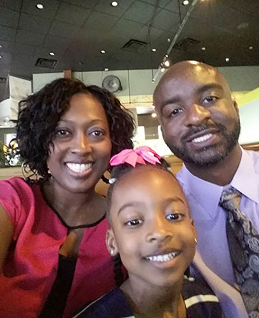 Dr. Mia Young with her family