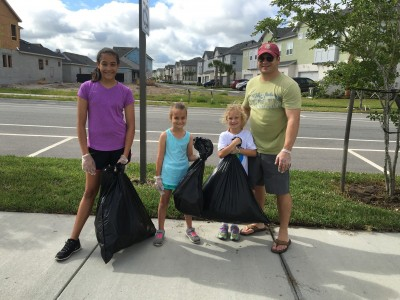 All ages came together to clean the neighborhood