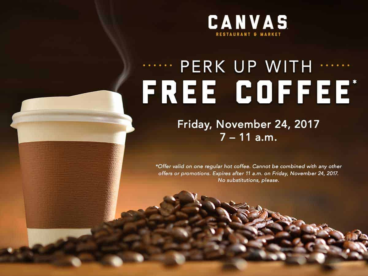 Black Friday Free Coffee Promo At Canvas Restaurant Market Nonahood News