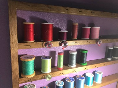 Thread and Bobbin Rack