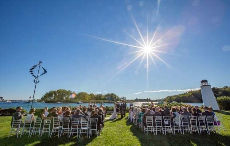 Picture of our Kennebunkport waterfront wedding venue.