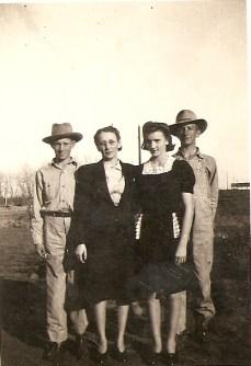 Grandma Katie and her three children, JB, Nina Vee, and my dad, Jimmie Dee Leatherwood