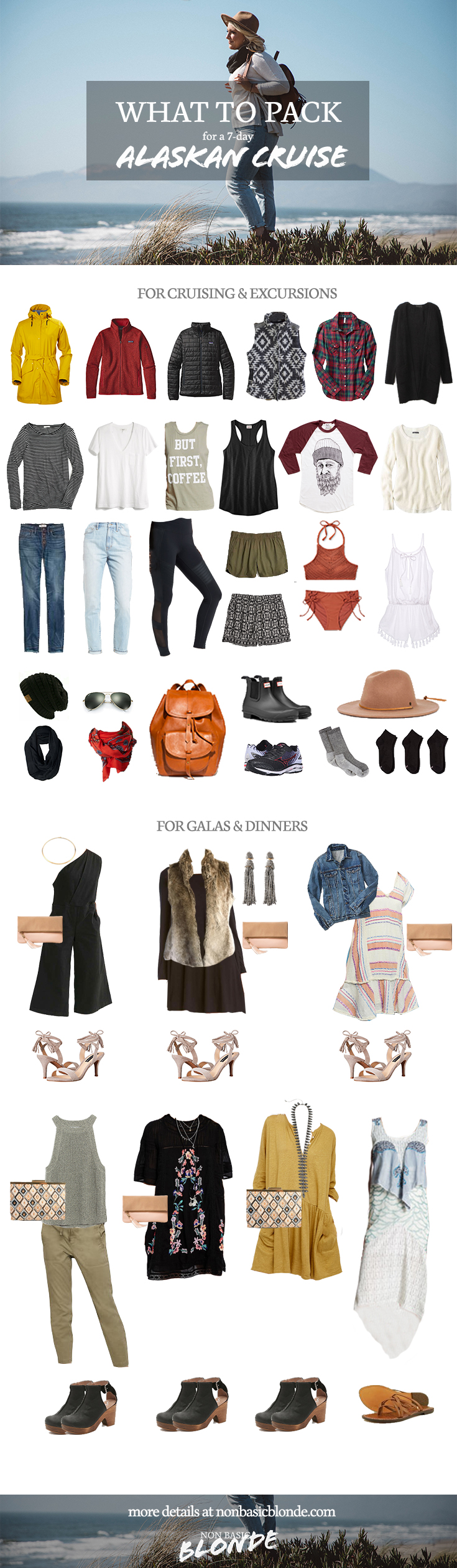 alaska cruise packing list outfits