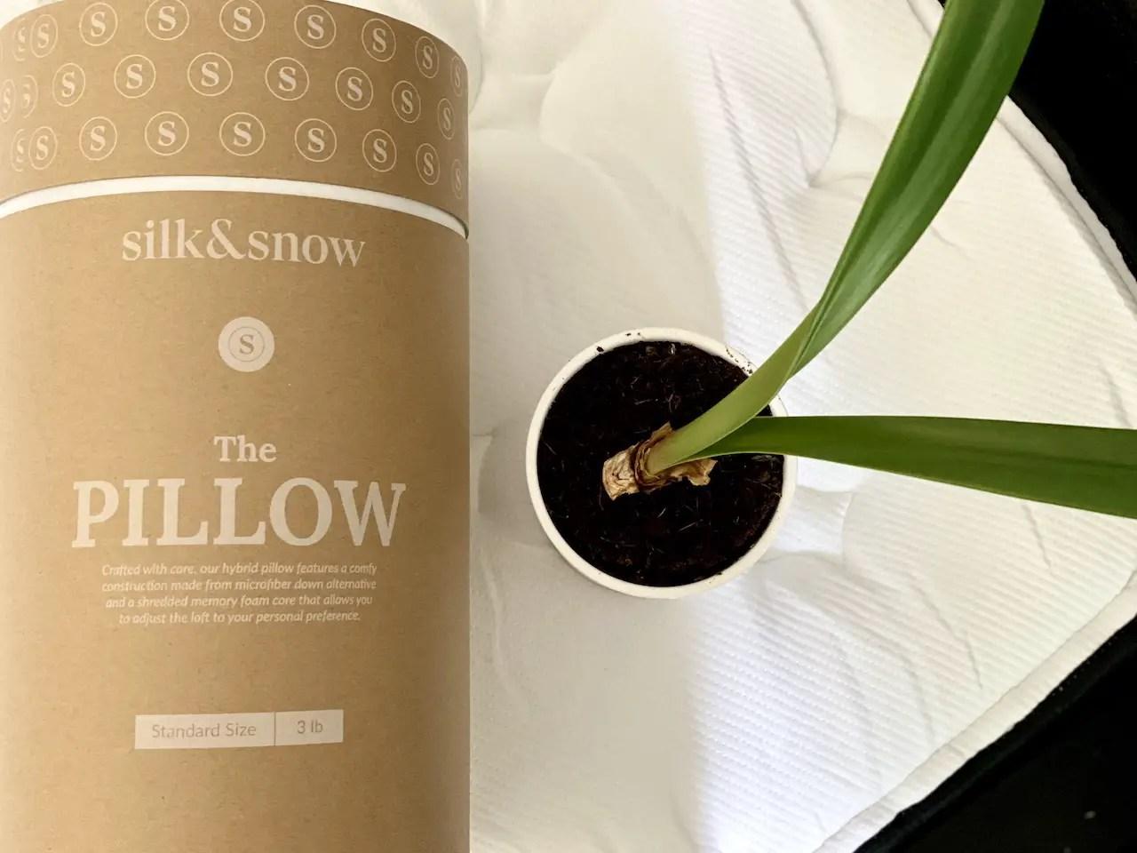 silk snow pillow review 2021 non
