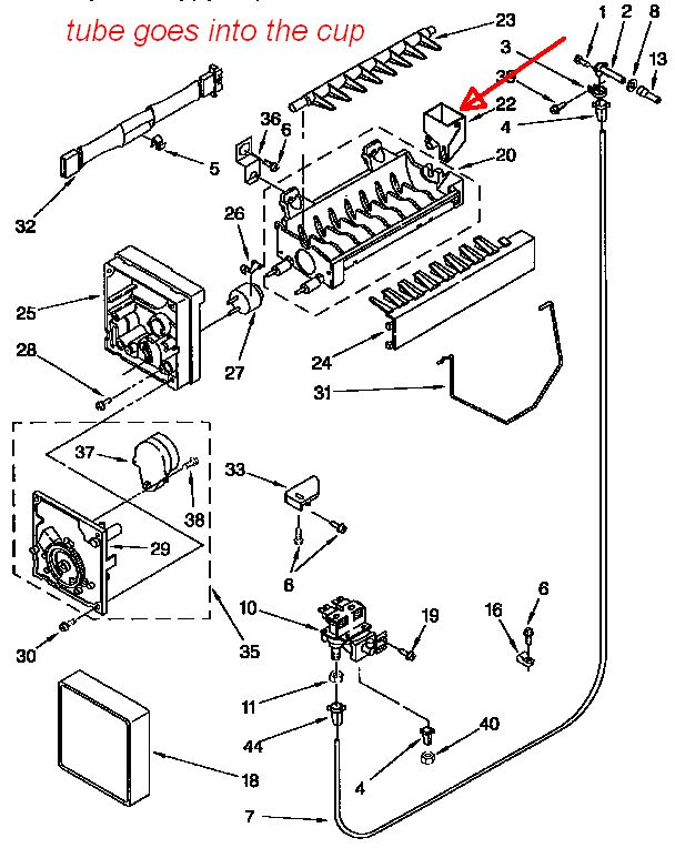 Kenmore coldspot 106 ice maker manual