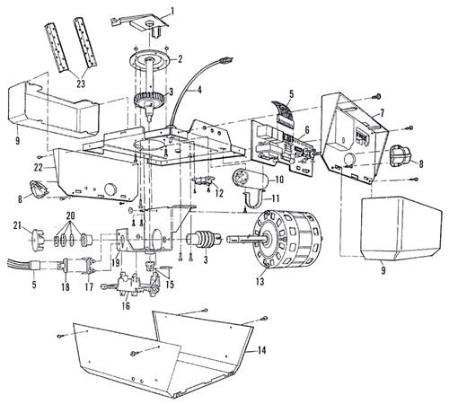Sears craftsman door opener 13953600 manual