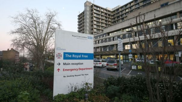 File photo dated 6/2/2020 of the Royal Free Hospital teaching hospital in the Hampstead area of the London Borough of Camden. Another person has tested positive for coronavirus in England, bringing the total number of cases in the UK to four. The latest patient diagnosed had come into contact with a previously confirmed UK case and is being treated at the Royal Free Hospital in London, chief medical officer for England Professor Chris Whitty said. PA Photo. Issue date: Sunday February 9, 2020. See PA story HEALTH Coronavirus. Photo credit should read: Jonathan Brady/PA Wire