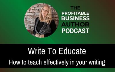 Write To Educate–Audio Series