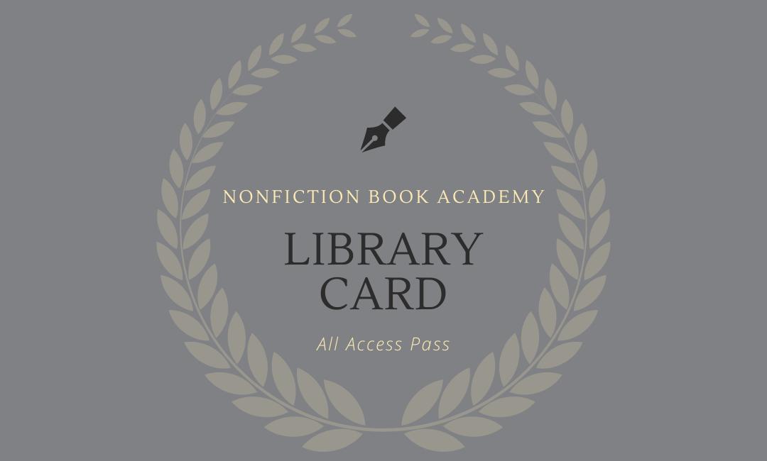 nonfiction book academy library card