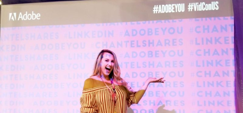 Chantel Soumis, Provost Host with the Most presenting at VidCon 2018