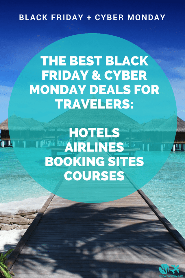 The best Black Friday & Cyber Monday deals for digital nomads, creative online entrepreneurs, travelers & bloggers. Cyber weekend Airlines, hotels and travel deals