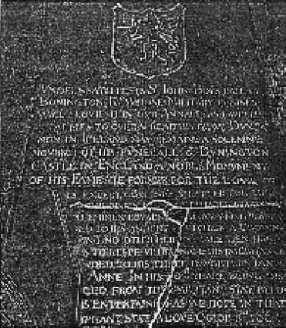 Sir John's memorial in Goodnestone Church