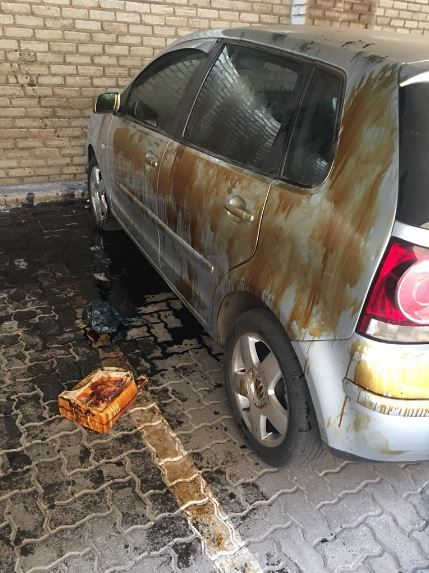 LOL!! South African Kids Bathe Dad's Car With Engine Oil (pics)