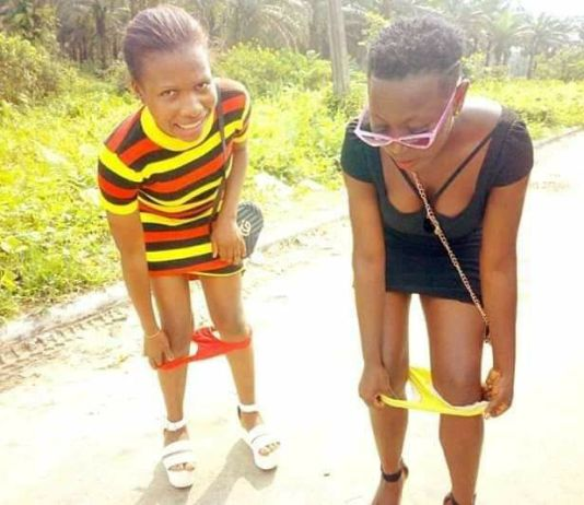 Ladies Pull Down Their Panties In Public To Mock Yahoo Boys And Ritualists.Photo