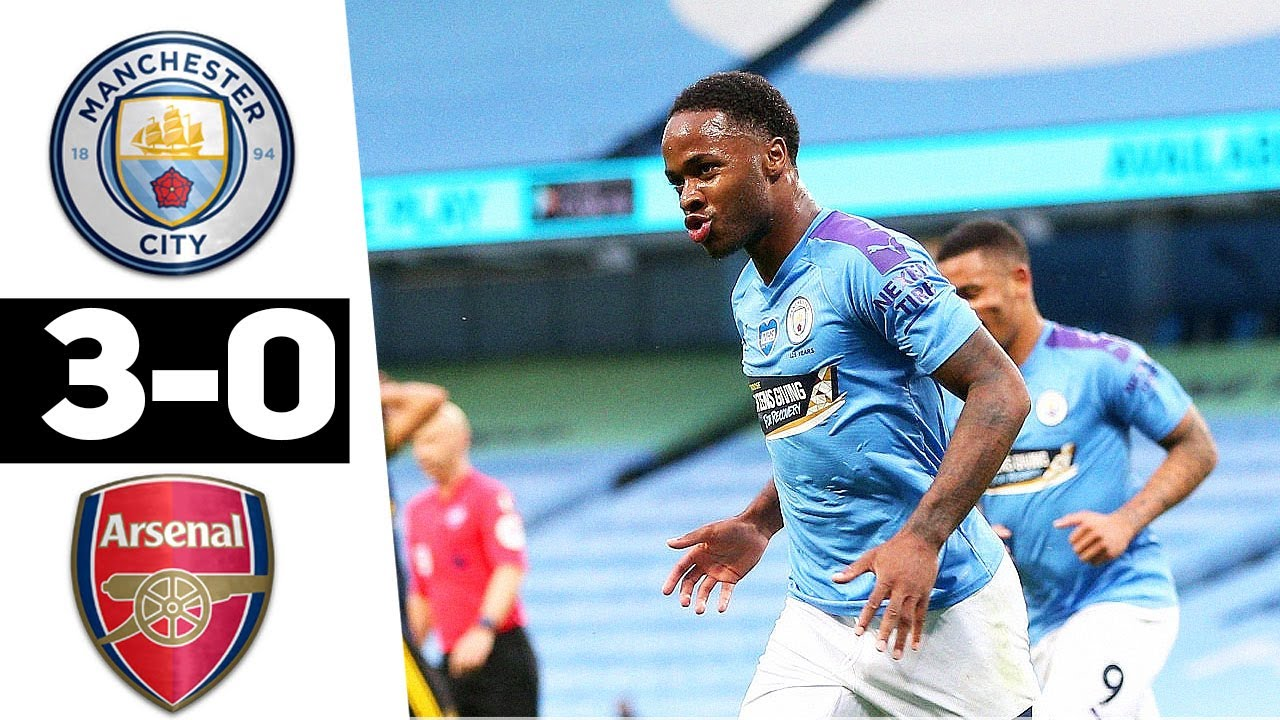 Download: Man city Vs Arsenal 3:0 (Goals & Highlights 17 June 2020)