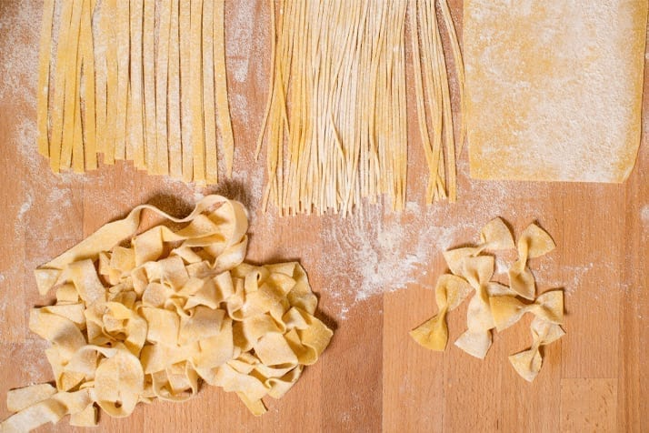homemade pasta with kitchen aid