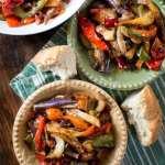 italian pepper, potato, and eggplant dish