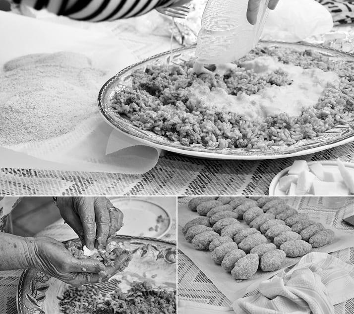 making arancini with nonna