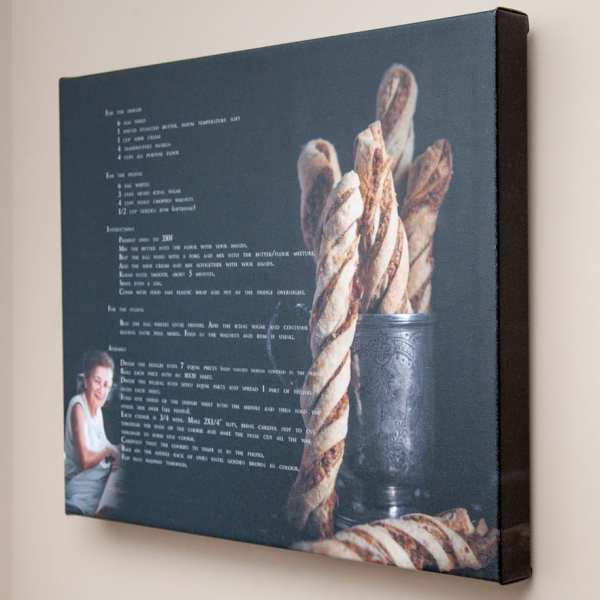 wrapped canvas recipe kitchen art