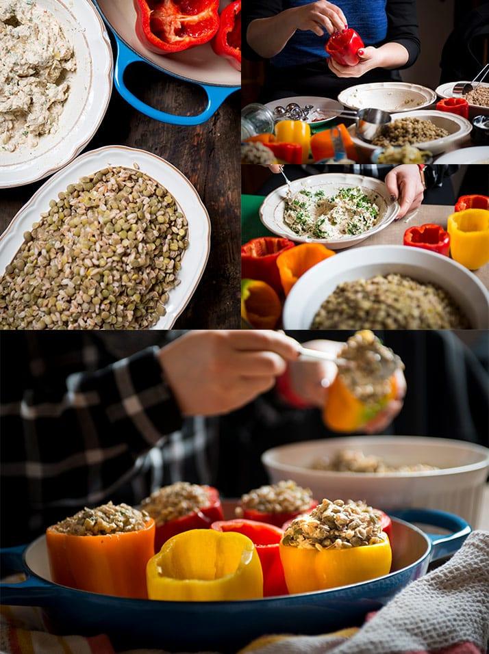 preparing-lentil-stuffed-peppers