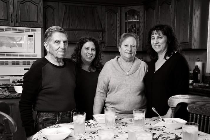 italian family sharing recipes with Nonnas Way
