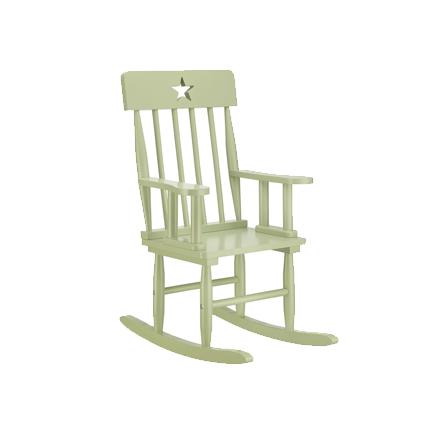 Kids Concept Krzesełko z Gwiazdkami Bujane Zielone