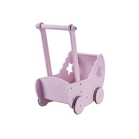 Kids Concept Drewniany Wózek z Gwiazdką Różowy