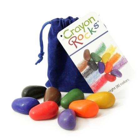 Kredki Crayon Rocks w aksamitnym woreczku – 8 kolorów