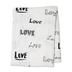 Lulujo Modern Kocyk Bambusowy Love
