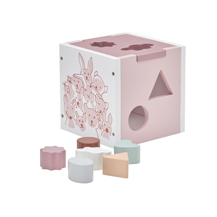 Kids Concept Edvin Sorter Drewniany Różowy