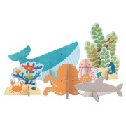 Petit Collage Puzzle Przestrzenne Ocean