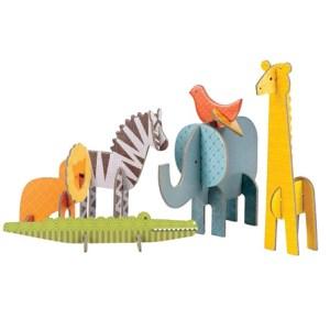Petit Collage Puzzle Przestrzenne Safari