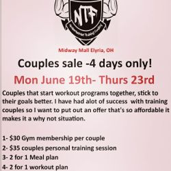 June Special Promotion - Gym Membership Personal Training Meal Planning Workout Plan Tanning