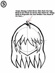 draw female anime hair