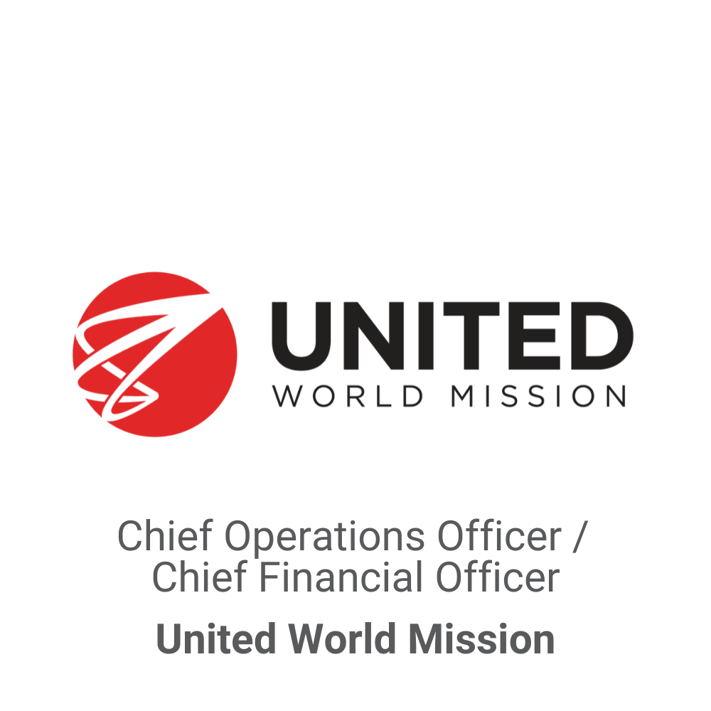 Chief Operations Officer : Chief Finanical Officer Executive Search_United World Mission DB&A Executive Search