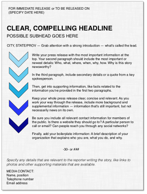 How to format a news release – Nonprofit MarCommunity