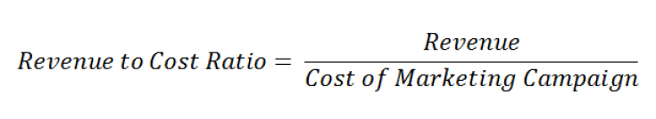 revenue to cost ratio