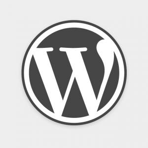 Gray WordPress Logo