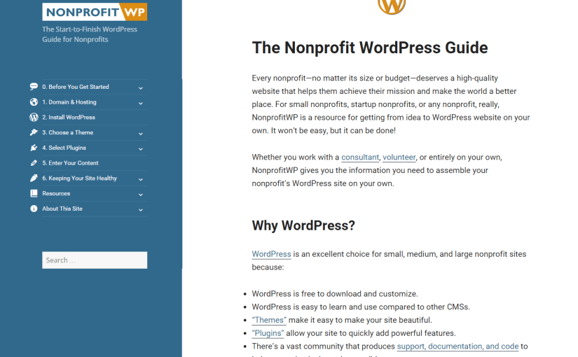The WordPress Recipe for NonprofitWP.org