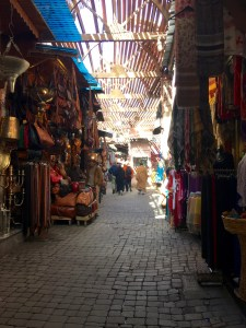 in the alleys of the souks
