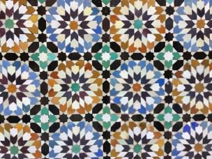 tiles inside the Madrasa