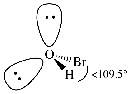 What is HOBr electron pair geometry and molecular shape