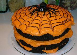 spider-halloween-cake-in-black-and-orange