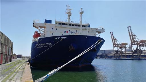 La Dongbang Giant No.3 approda per la prima volta nel porto di Venezia