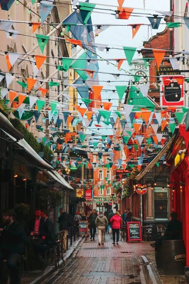 temple bar in Dublino