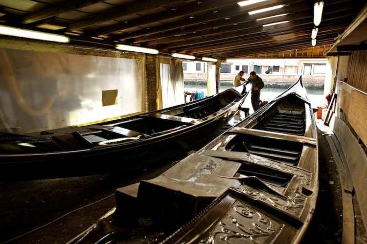 le barche a Dorsoduro centro venezia