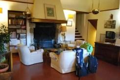 """La sala del camino dell'albergo-ristorante """"Casalta"""""""