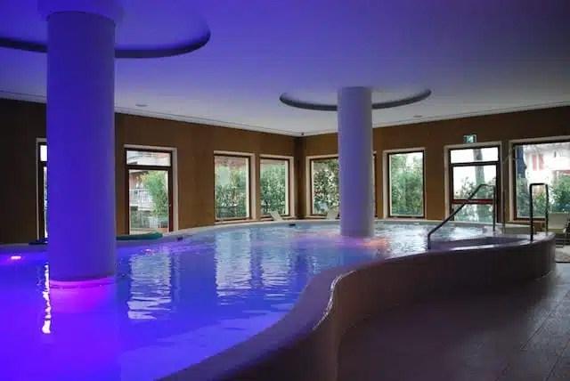 La piscina termale dell'Hotel Villa Ricci